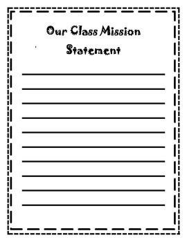 This Template Is Used To Display Our Class Mission Statement In Student Data Leadership Notebook Middle School Student Data Notebooks Templates