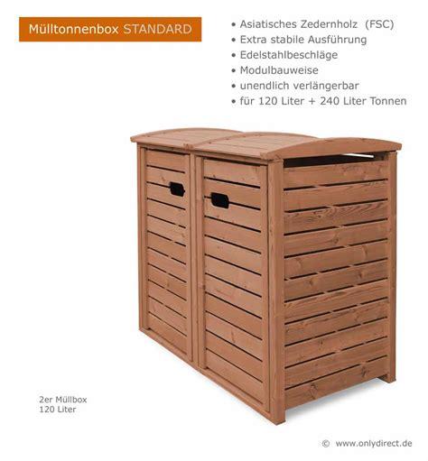 Gartenbank Design 226 by Angebot 2er 3er M 252 Lltonnenbox Hartholz 120 240 Liter