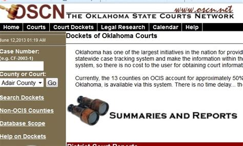 Ocsn Search Www Oscn Net Oscn Has A Great System To Search For Dockets