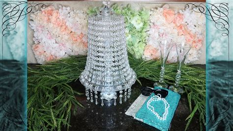 Dollar Tree Lighted Chandelier 2.0, Breakfast at Tiffany?s Inspired, My Crafts and DIY Projects