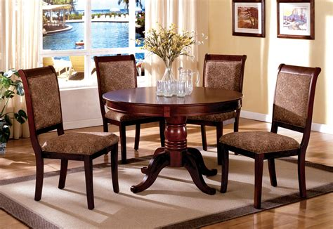 Circle Dining Room Table Sets St Nicholas Ii Antique Cherry Pedestal Dining Room Set From Furniture Of America