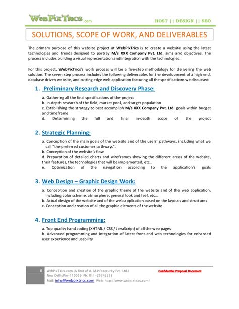 design work proposal 28 marketing scope of work template collegesinpa org