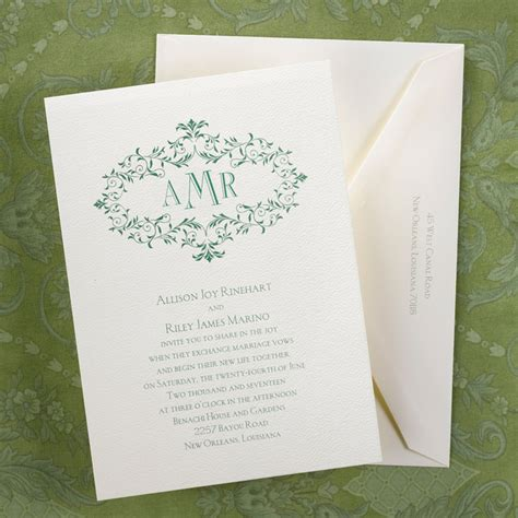 monogram wedding invitations monogram wedding invitations yaseen for