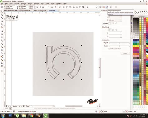 membuat gambar watermark di corel tutorial cara mudah membuat logo menggunakan coreldraw