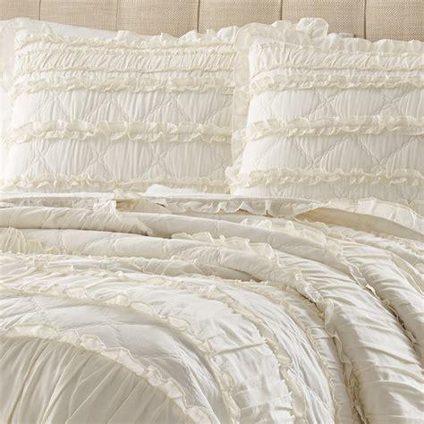 100 Cotton Duvet Set Stone Cottage Solid Ruffle Quilt Set From Beddingstyle Com