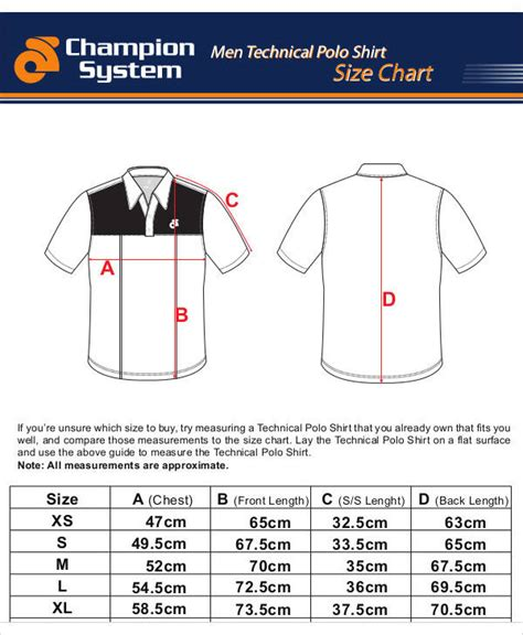 10 Size Chart Free Sle Exle Format Download Sle Templates Free Size Chart Template