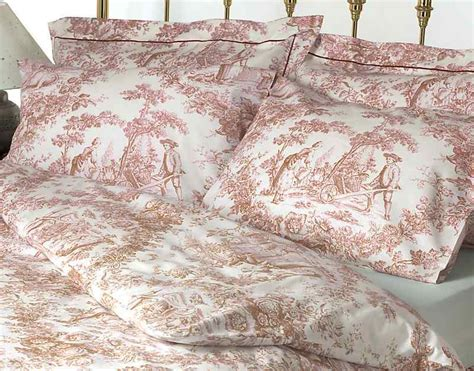 Cotton Double Duvet Cover Sets Toile De Jouy Pink Bedding Set 100 Cotton Ebay
