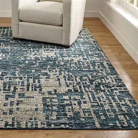 Where Can I Take My Area Rug To Be Cleaned Celosia Indigo Blue Knotted Rug Crate And Barrel