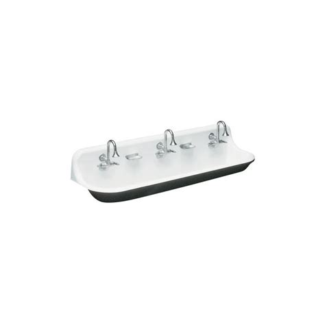 3 Faucet Trough Sink faucet k 3203 0 in white by kohler