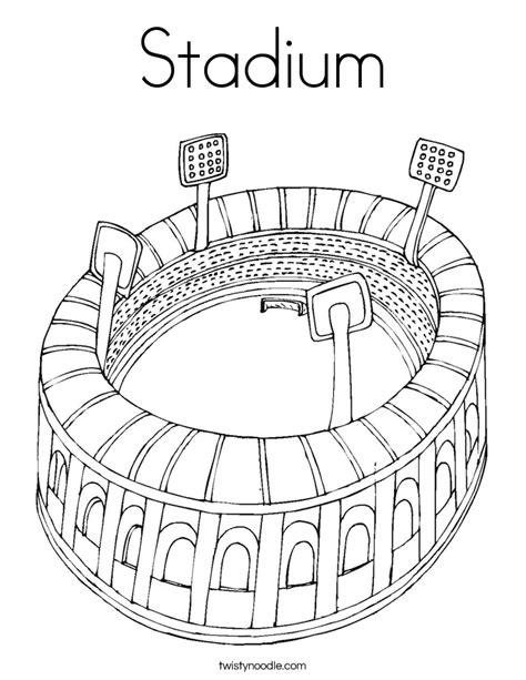 coloring pages football stadium baseball stadium coloring pages coloring home