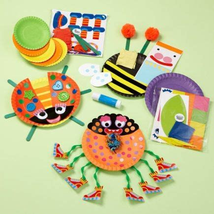 kids arts and crafts toys kids paper plate bug craft play set paper plate bugs set