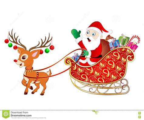 animated photos of christmas santa claus with reindeer santa claus on sleigh stock photo image 79054932