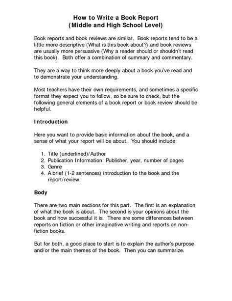 what makes a book report how to write a book report for high school the