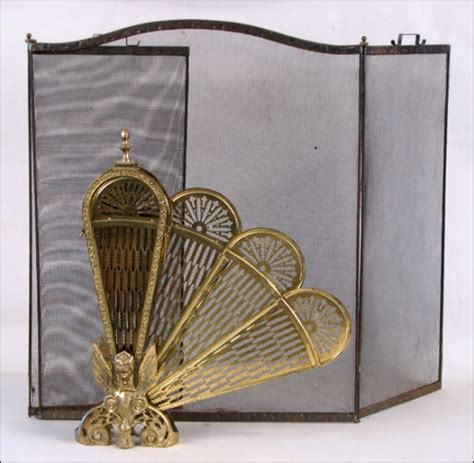 Brass Fan Form Fireplace Screen 2233355 Brass Fan Fireplace Screen