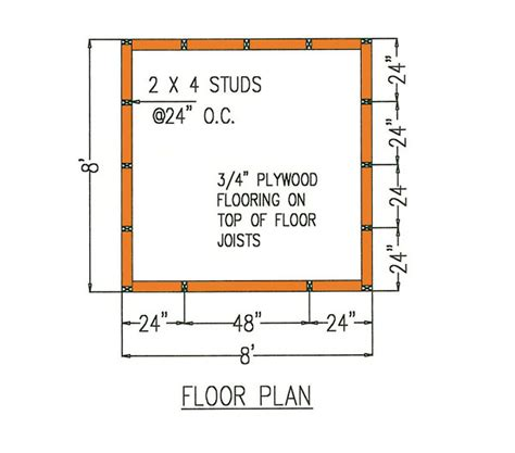 storage shed floor plans 8 215 8 gambrel storage shed plans for building a lasting