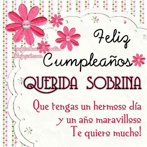 imagenes de feliz cumpleaños para una sobrina tartetas de cumplea 241 os personalizadas para amiga nuera