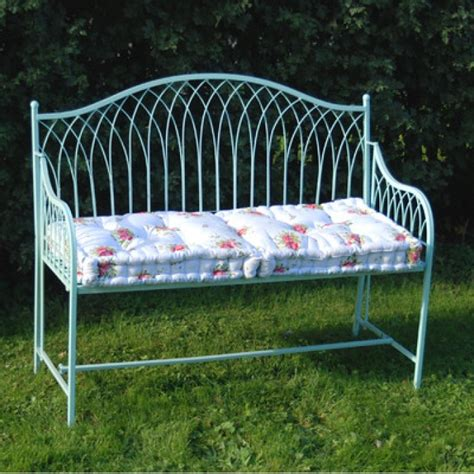 folding metal garden bench buy ascalon hton blue folding garden bench