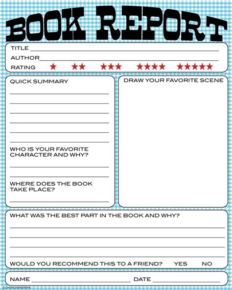 book reports for elementary students free book report printable great for lower primary