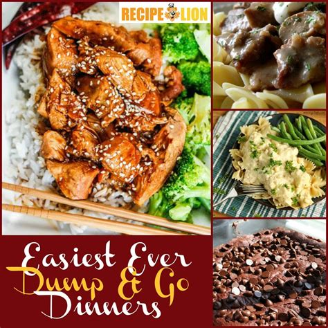 dinner recipes dump and go dinners 26 easy weeknight dinner ideas