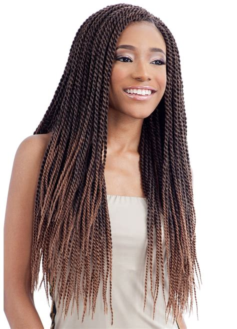 Longch Small model model glance crochet braid senegalese twist small