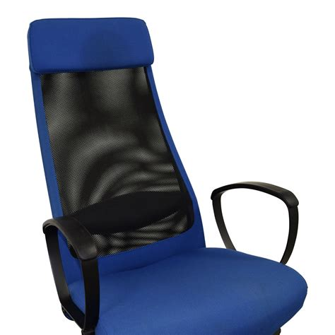 ikea blue desk chair 82 off ikea ikea markus blue swivel chair chairs