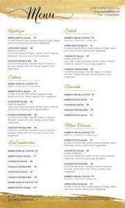 Free Menu Templates For Word by Doc 770477 Free Menu Templates For Microsoft Word Free