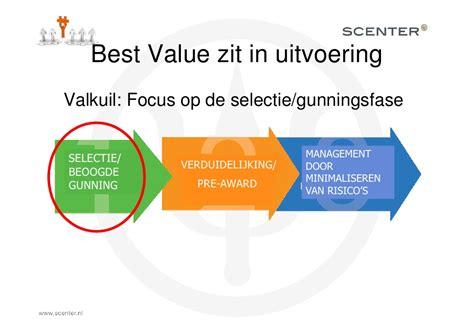 best value presentatie jeroen de rijt ervaringen met best value