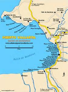 map of mexico area map of mexico showing the bay of banderas vallarta