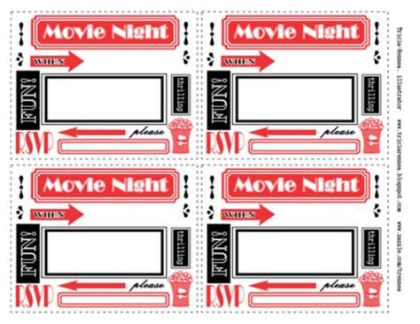 printable birthday invitations movie theme free 29 diy cinema themed parties tip junkie