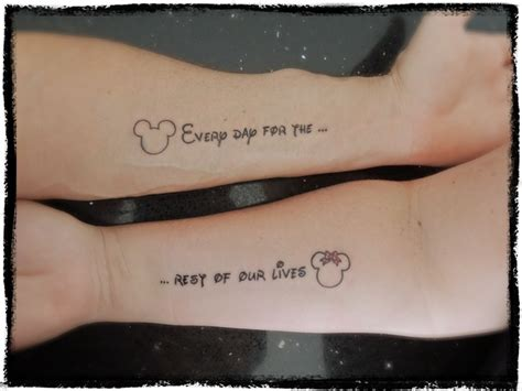 tattoo phrases couples tatouage couples disney 21 photos qui vous feront r 234 ver