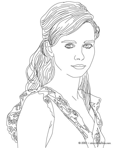 coloring page person nora tschirner german actress coloring pages hellokids com
