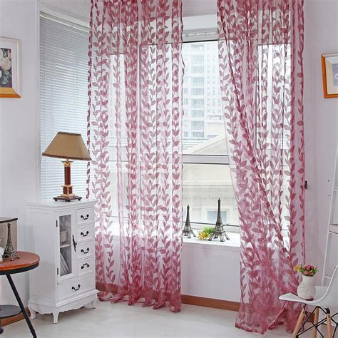 7 Hip Printed Curtains by Voile Leaves Printed Tulle Window Curtain Door