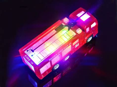 toy fire trucks with lights and sirens wolvol electric fire truck toy with stunning 3d lights and