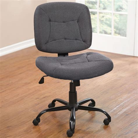 armless desk chair with wheels armless office chairs decofurnish