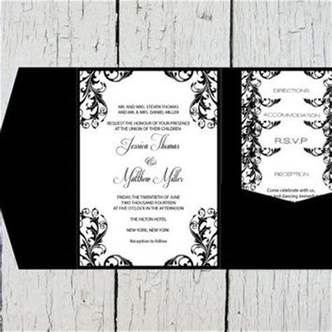 Pocket Wedding Invitation Templates Set From Graphicartdesign Pocket Invitation Template