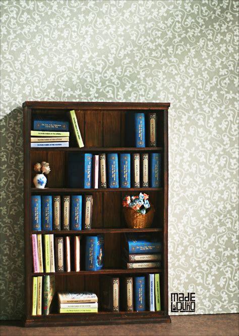 miniature bookshelf by sakyachan on deviantart
