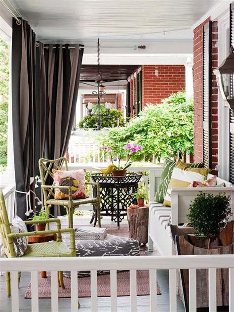 Front Porch Curtains Like The Idea Of Curtains On Front Porch Crafty Craftables Pinter