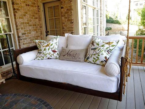 swing porch bed monthly inspiration outdoor furniture