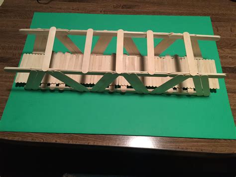 Diy Suspension Bridge 54 Span How To Build A Bridge With Popsicle Sticks With Pictures