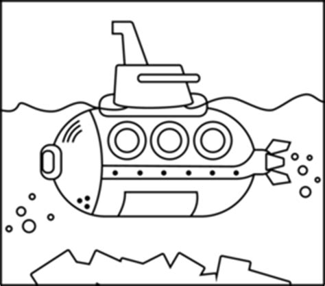 Puzzle Tombol Tranport mewarnai gambar kapal selam