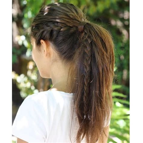 easy hairstyles with plaits 25 best ideas about french braid ponytail on pinterest