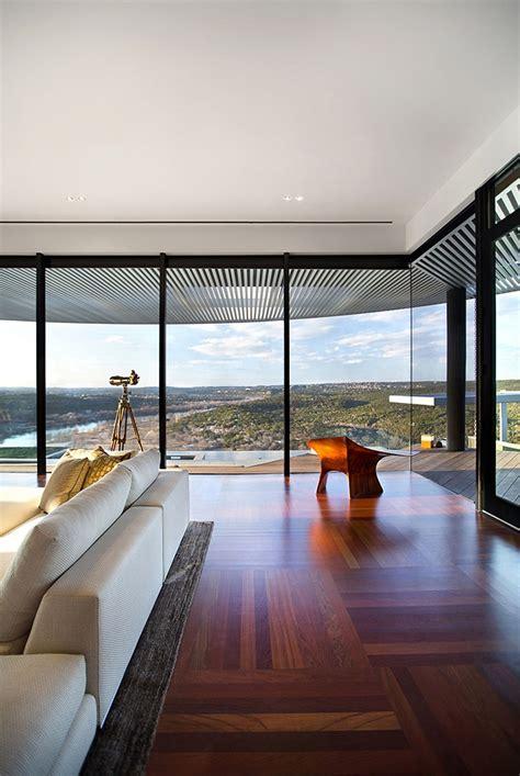 spectacular home renovation frames imposing views of lake