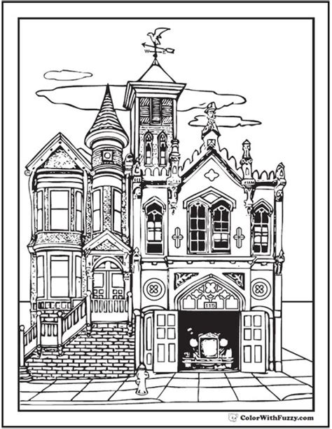 victorian house coloring pages free old victorian house coloring pages for grown ups