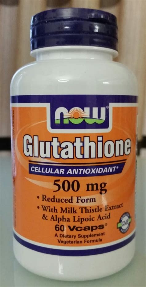 Gluta Caps 500 Mg Plus now foods glutathione 500mg 60pcs made in usa