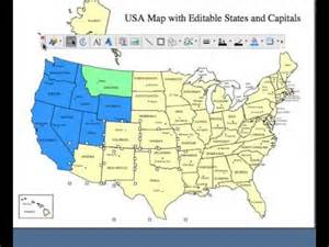 editable usa and canada powerpoint and illustrator royalty