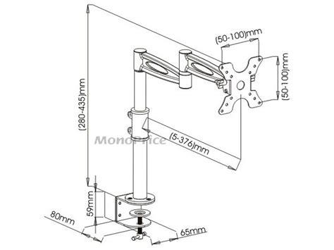 monoprice 3 way adjustable desk mount monoprice 5402 3 way adjustable tilting monitor mount max