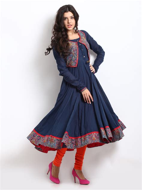 jacket pattern kurta for ladies buy biba women navy kurta with printed jacket 364