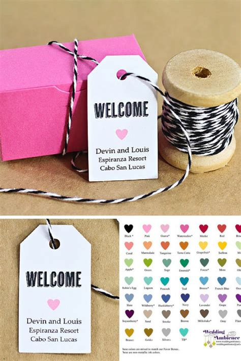 Our Wedding The Favors by Welcome Bags Are A Must For Destination Weddings Its A