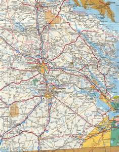 Road Map Of Virginia by Historical Road Maps Of Virginia