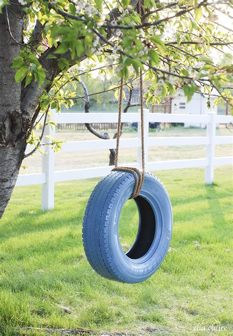 tree with tire swing easy diy tire swing ella claire
